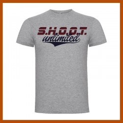 Camiseta SHOOT UNLIMITED gris